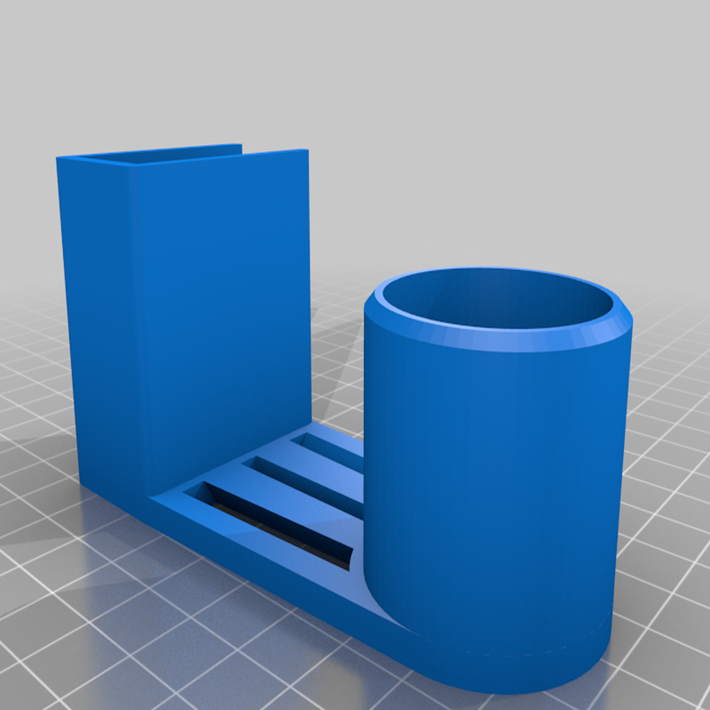 PaperTowelHolder_With_decor.png Télécharger fichier STL gratuit Porte-serviettes en papier (pour étagère de 18 mm) • Design imprimable en 3D, stibo