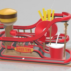 Download free 3D printing files Burger Town - Tiny Town Racing (Track 02), GuyEvans