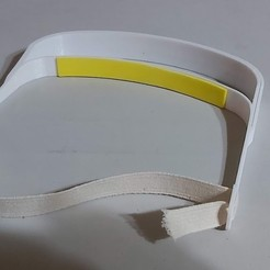 20200424_012354.jpg Download free STL file Covid-19 Face shield for 0.8 mm acetate • 3D printer design, Qv2Printing