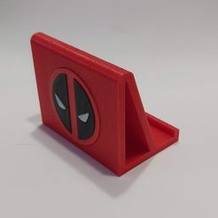 Download 3D printer designs Cell phone or tablet support with Deadpool theme, Qv2Printing