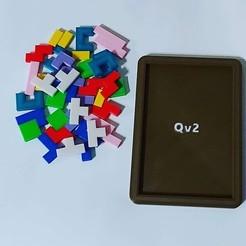 Impresiones 3D gratis Puzzle Tetris, Qv2Printing