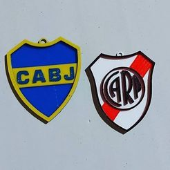 Download 3D printer templates Boca Juniors and River Plate keychains, Qv2Printing