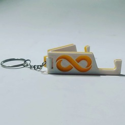 Download 3D printer files Foldable cell phone key ring, Qv2Printing