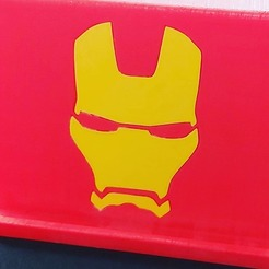 Download 3D printing designs Ironman-themed tablet support, Qv2Printing