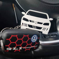 FB_IMG_1574242961183.jpg Download STL file Key ring VW Jetta • 3D printing model, Qv2Printing