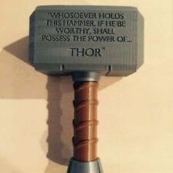 Download free 3D printer files Thor hammer- 3 pics, vid