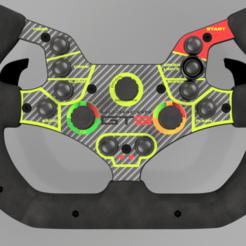 Huracan GT3 v36.png Download STL file Huracan GT3 Steering Wheel [DIY]  • 3D print model, MISS1LE