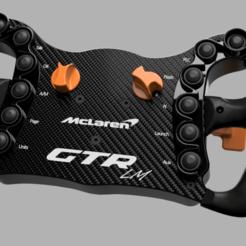Senna v21.png Download STL file McLaren Senna/720S GT3 Steering Wheel [DIY]  • Model to 3D print, MISS1LE
