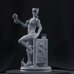 Catwoman-Clay-min.png Download STL file Catwoman • 3D printer design, mayconfcramos