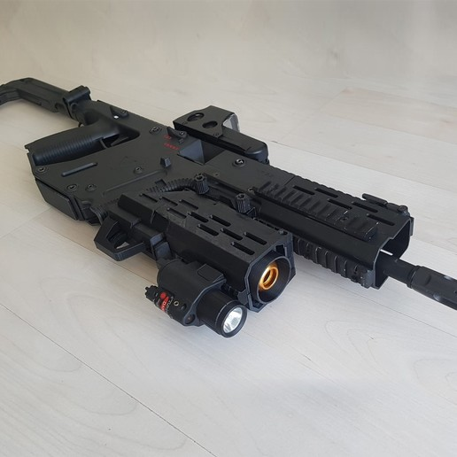 Download 3D printer files 40mm airsoft granade launcher Kriss Vector style, polpacco