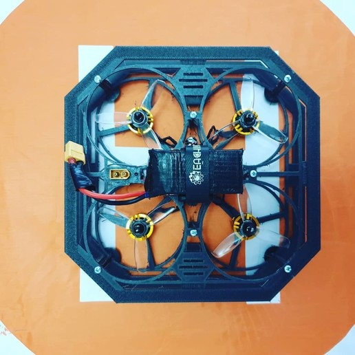 94138977_117275283273155_4387653451590209482_n.jpg Download free STL file Drone Chassis 3 Inches • 3D printer template, Zero13