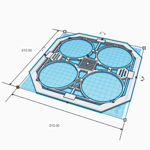 DronPlanoV3_Superior.png Download free STL file Drone Chassis 3 Inches • 3D printer template, Zero13