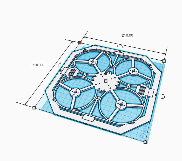 DronPlanoV3_Inferior.png Download free STL file Drone Chassis 3 Inches • 3D printer template, Zero13