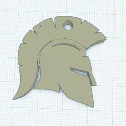 Download free STL file Spartan key ring 35x35x5 mm. Flexible TPU • 3D printing design, Zero13