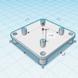 Download free STL file Support 20x20mm for 30,5x30,5mm (flight controller) • 3D printing design, Zero13