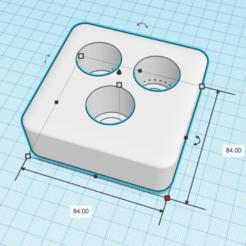CapturaSoporteCepillosDientes_img1.png Télécharger fichier STL gratuit Soporte Cepillos Dientes Electricos (x3) • Objet pour impression 3D, Zero13
