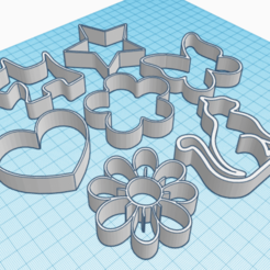 Download free STL file Cake and Biscuit Moulds • 3D printer design, Zero13