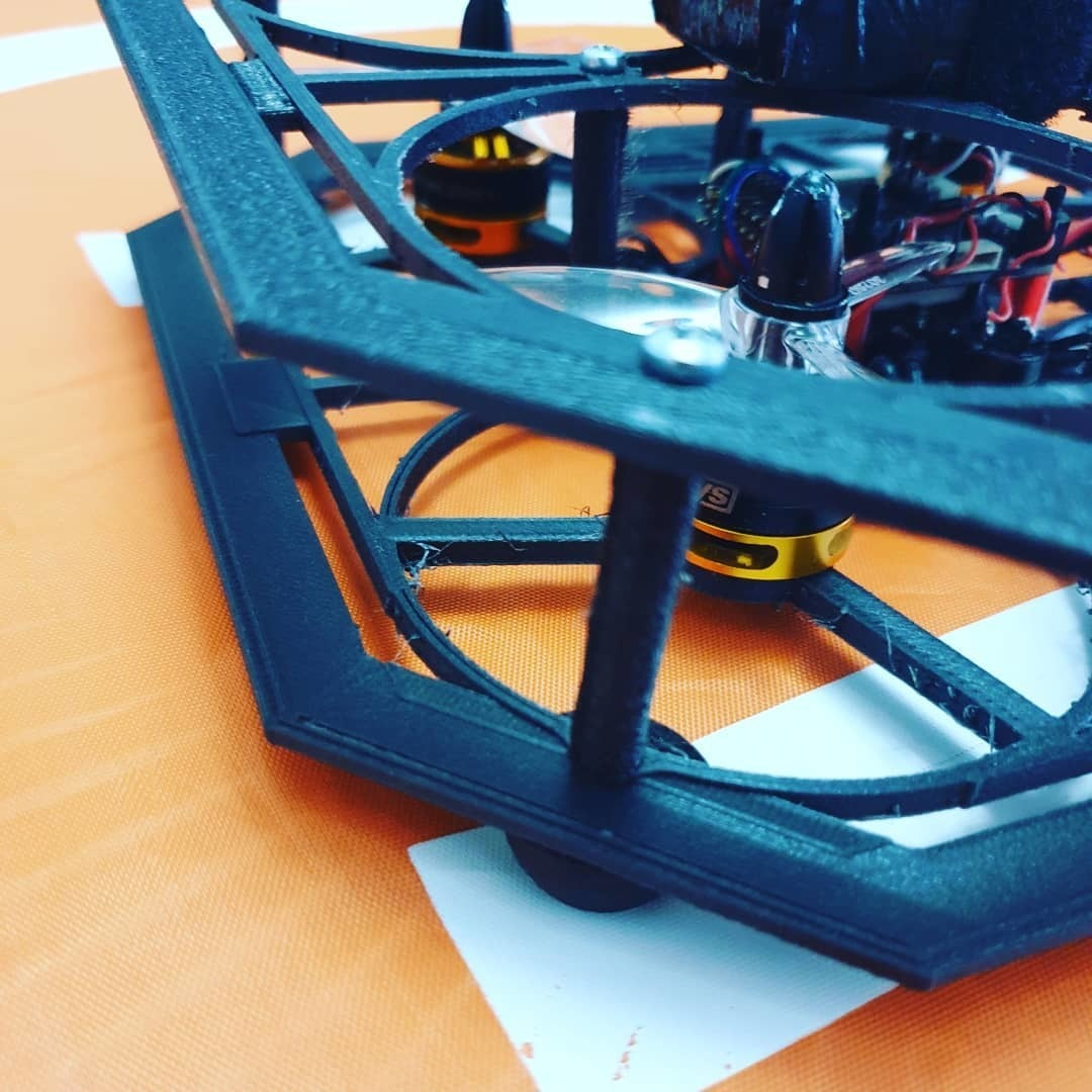 93581410_630999821082380_4576421171294307878_n.jpg Download free STL file Drone Chassis 3 Inches • 3D printer template, Zero13