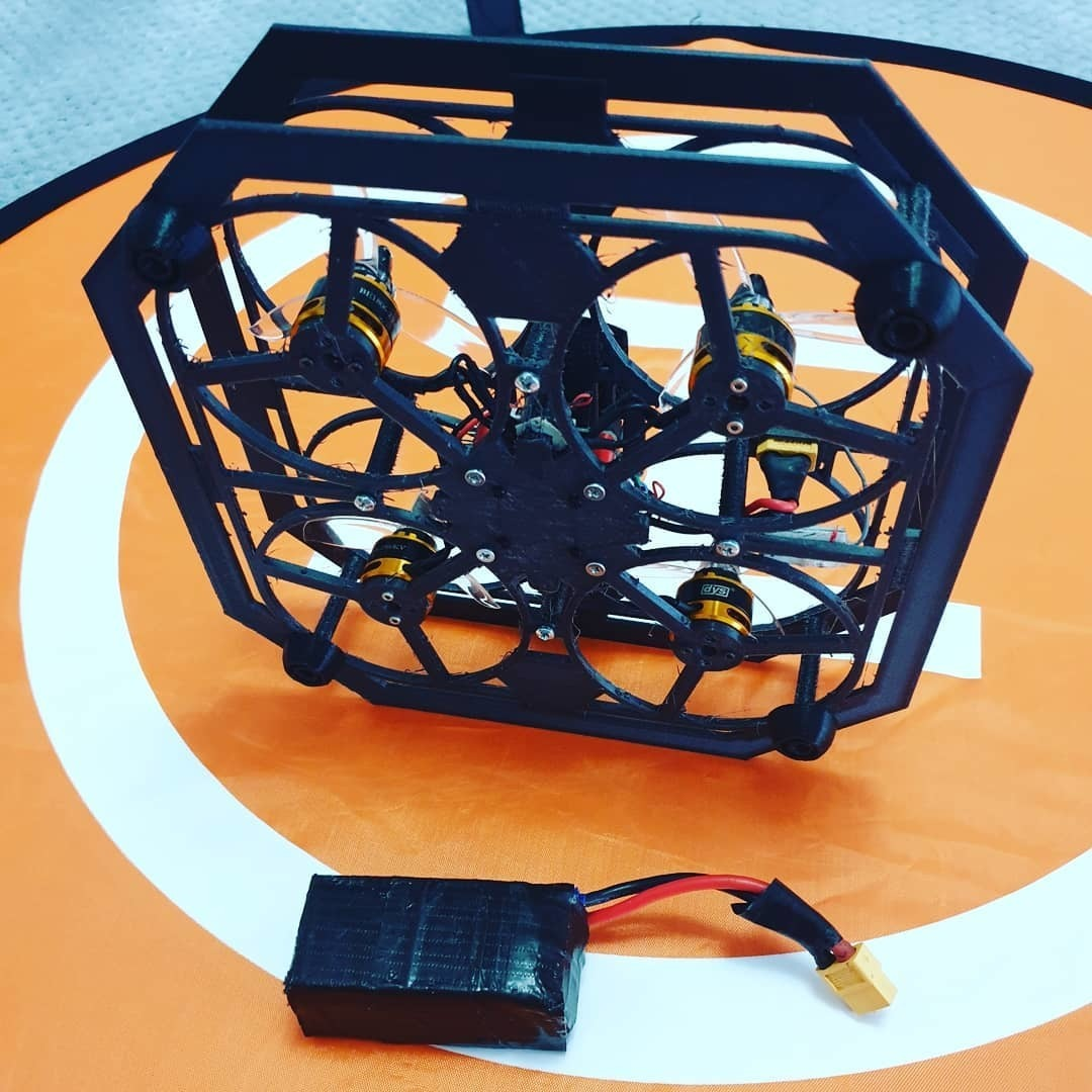 93818839_150846323089926_7289865539345128861_n.jpg Download free STL file Drone Chassis 3 Inches • 3D printer template, Zero13