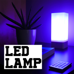 Download free 3D printer model LED lamp (no soldering), 3D_World