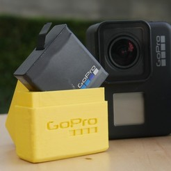 Download free 3D printer files GoPro battery case, 3D_World
