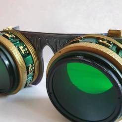spgshort1.jpg Download STL file Steampunk/Cyberpunk goggles • 3D printing model, cmoore1