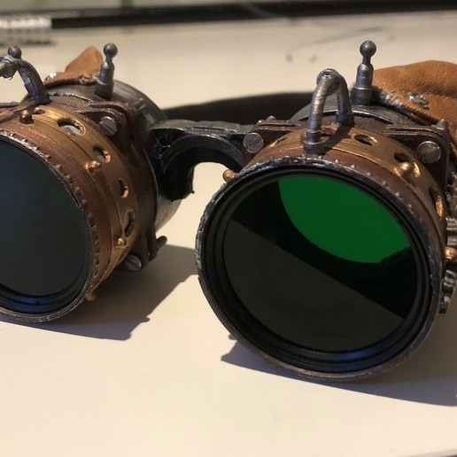Download free 3D printer model Steampunk Goggles, cmoore1