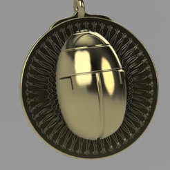 Scarab pendant 2.png Download STL file Egyptian Scarab pendant • 3D printer template, cmoore1