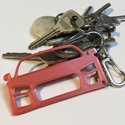 Download free STL files AUDI R8 Keychain, ronchonchon