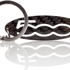 Download free 3D printing designs Fiat 500 Keychain, ronchonchon