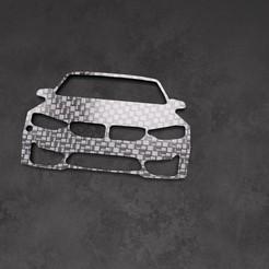 645f6c3b-5a4c-4f57-86e5-5c8acd44ac45.jpg Télécharger fichier STL Porte Clé BMW M4 / M3 • Plan à imprimer en 3D, ronchonchon