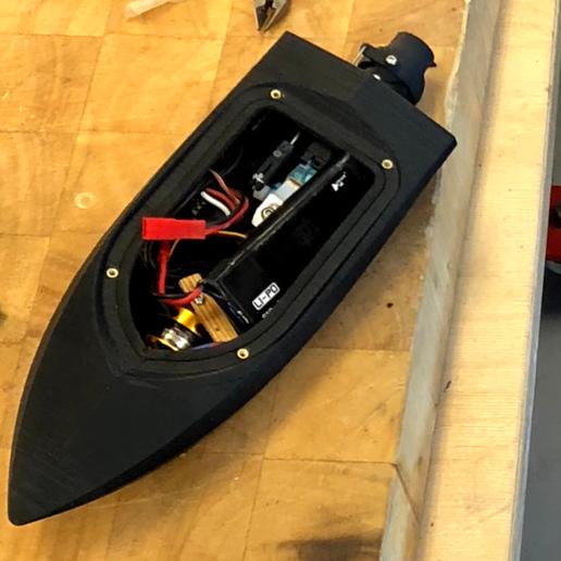 Download STL files Mini RC Jet Boat 200, jtronics