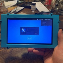 """Download free 3D printing templates Raspberry Pi 7"""" Tablet, TheEnderGuy"""