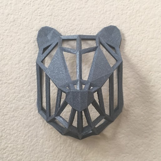 IMG_8972.JPG Download free STL file Wire Frame Panda Head • 3D printable design, caitlin_le