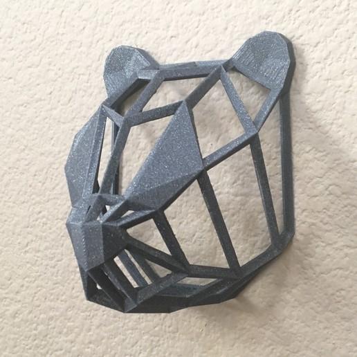 IMG_8969.JPG Download free STL file Wire Frame Panda Head • 3D printable design, caitlin_le