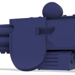 Download free 3D printing templates 40k Small Titan Wall Lord Hellstorm Cannon, The_Titan_Manifactorium