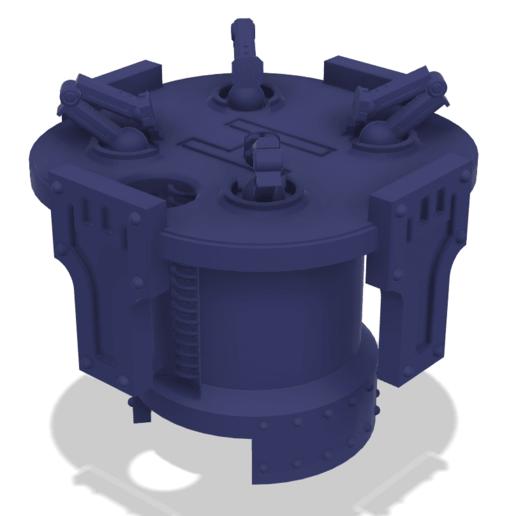 Download free 3D printing templates 40k Big Wall Lord Titan Landing Pad, The_Titan_Manifactorium