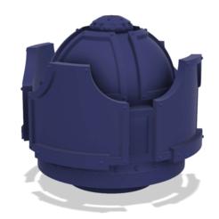 Imprimir en 3D gratis 40k Big Reaper Banco de Escudo Auxiliar de Titán, The_Titan_Manifactorium