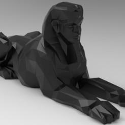 untitled.223.jpg Download STL file Low Poly  Sphinx • 3D printer object, 3dBras