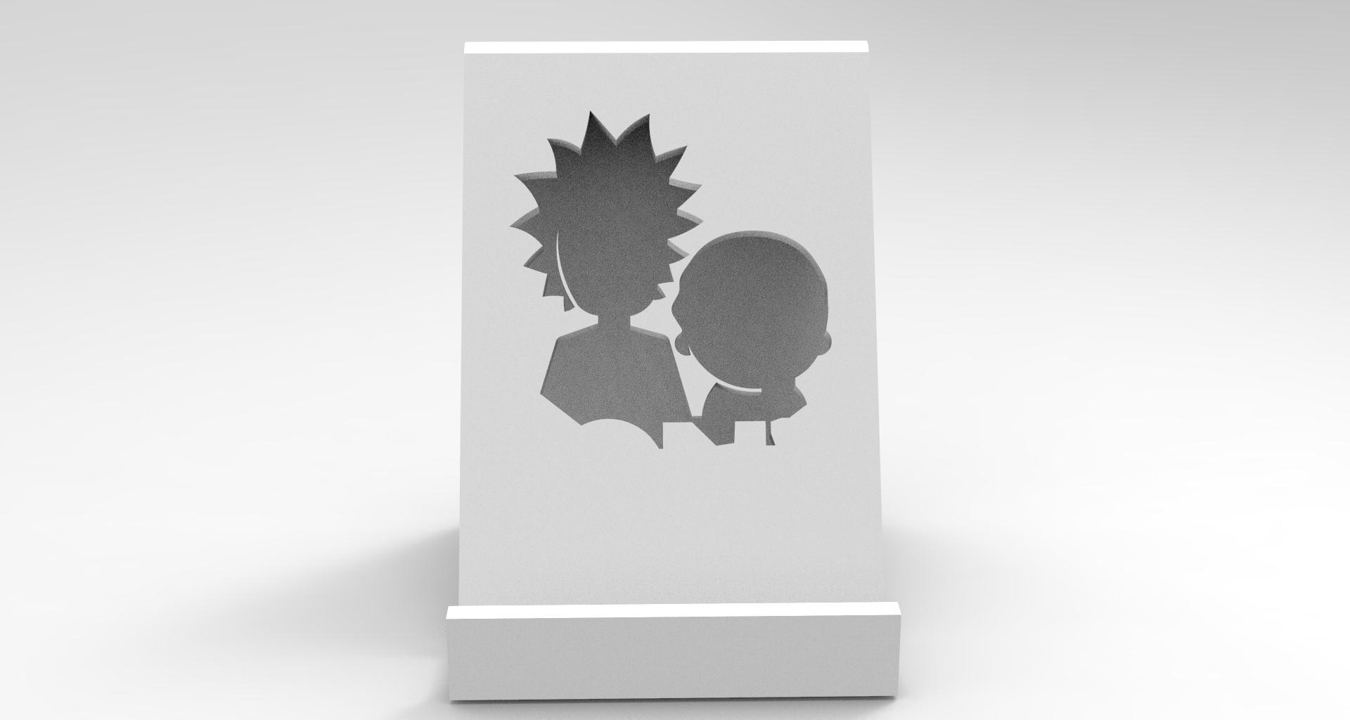 5.jpg Download STL file RICK E MORTY SUPORTE TELEFONE • 3D printer model, BrunoLopes