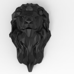 untitled.128.jpg Download STL file Low Poly Lion • 3D printing template, BrunoLopes