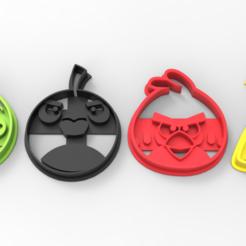 untitled.697.png Télécharger fichier STL Oiseaux en colère : un coupeur de biscuits • Modèle pour impression 3D, BrunoLopes
