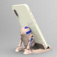 suporte r2d2.144.png Download STL file Smartphone Support R2D2 • 3D printer object, BrunoLopes