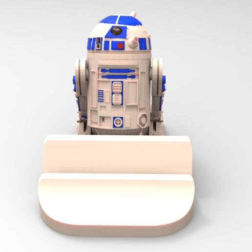suporte r2d2.140.png Download STL file Smartphone Support R2D2 • 3D printer object, BrunoLopes