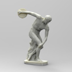 untitled.50.jpg Download STL file Low Poly The Discobolus • 3D printable object, 3dBras