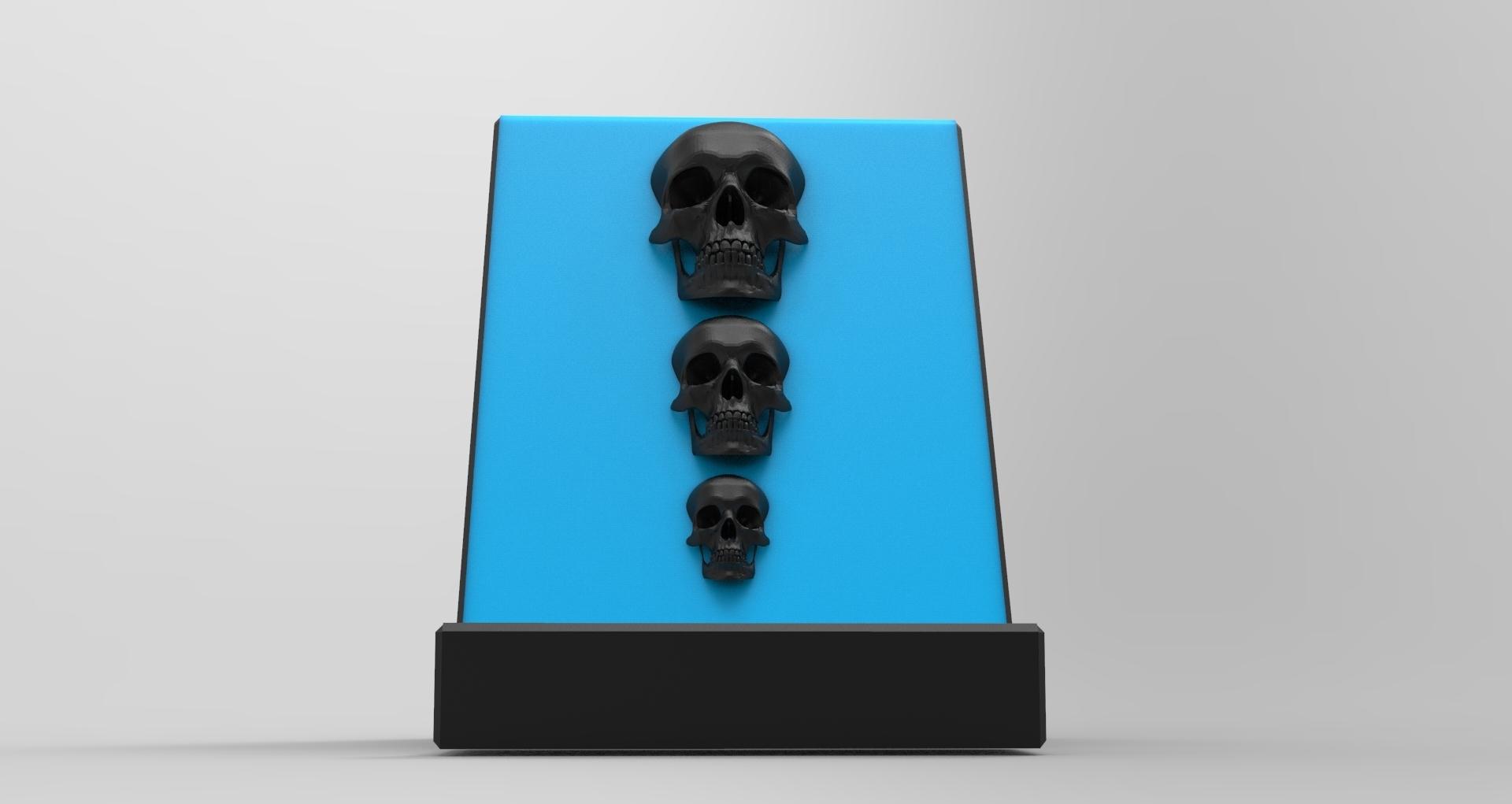 untitled.176.jpg Download STL file Smartphone Support Skull • Design to 3D print, BrunoLopes