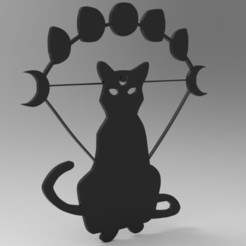 untitled.97.jpg Download free STL file Geometric Cat • Object to 3D print, BrunoLopes