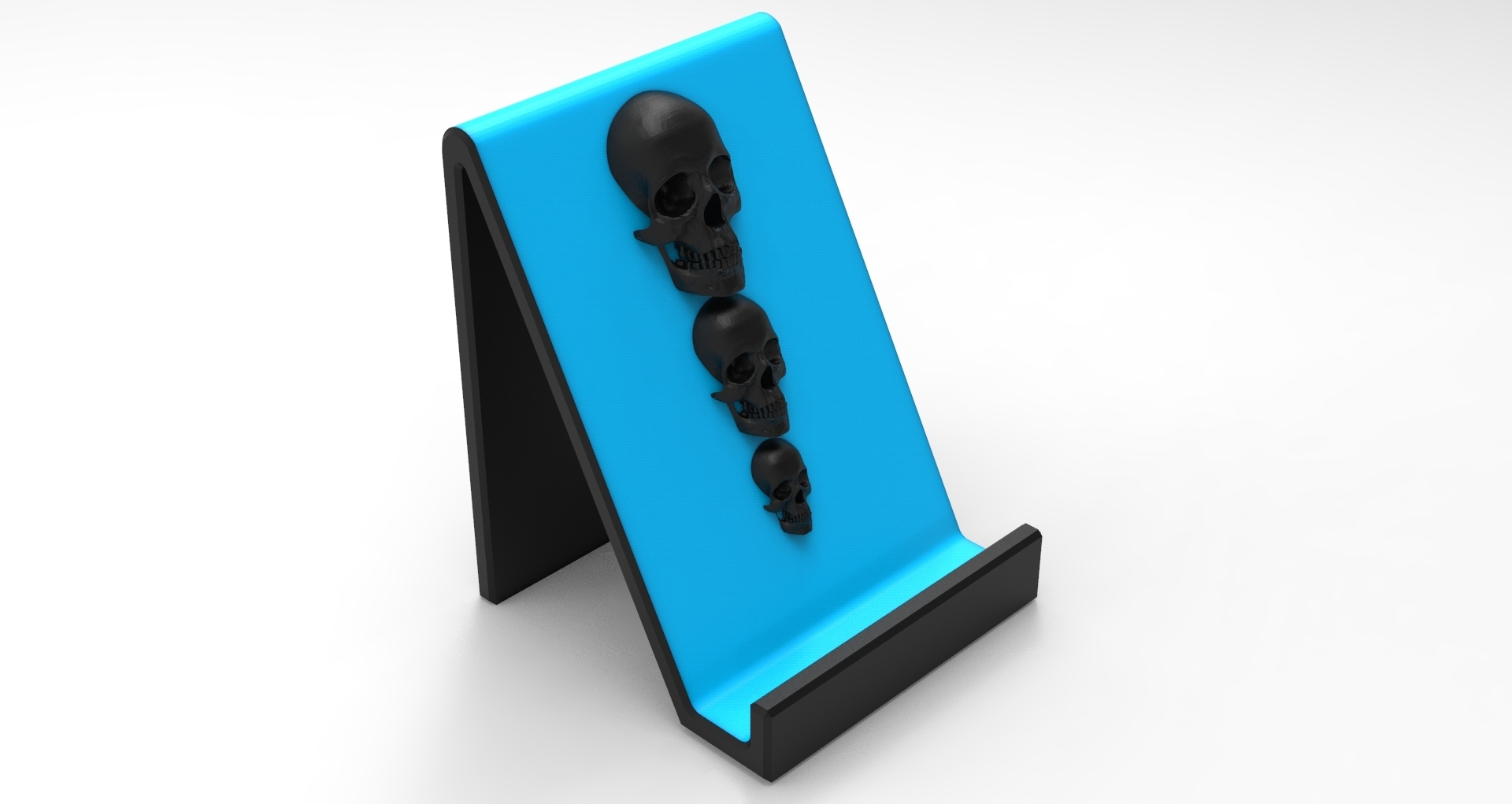 untitled.175.jpg Download STL file Smartphone Support Skull • Design to 3D print, BrunoLopes