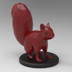 untitled.167.png Download STL file Low Poly Squirrel • 3D print design, 3dBras