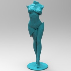 untitled.70.jpg Download STL file Low Poly Body Female  • 3D printable object, 3dBras